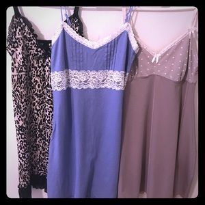Nightgown chemise bundle of 3 NWOT size small